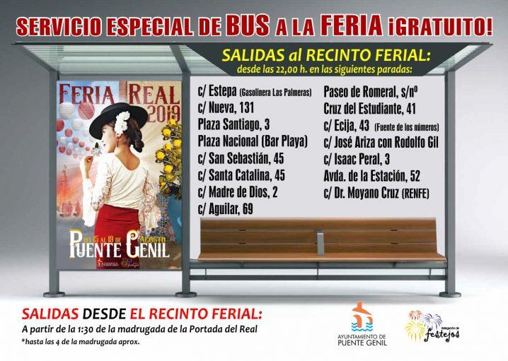 Servicio Especial De Autobús Gratuito A La #FeriaReal2019