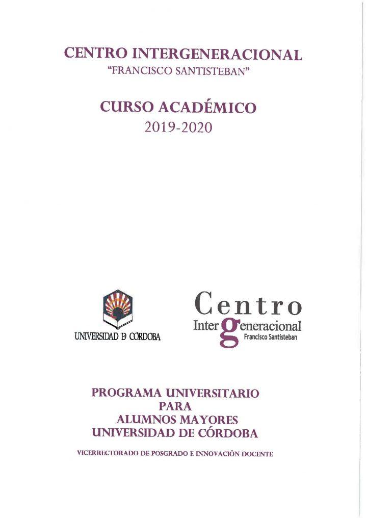 Matriculaciones Para La Cátedra Intergeneracional.