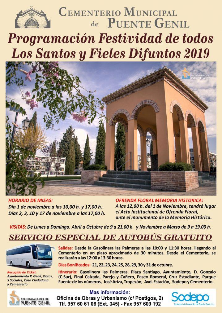 Programación Festividad De Todos Los Santos Y Fieles Difuntos 2019
